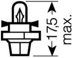 Лампа накаливания Osram 2452MFX6
