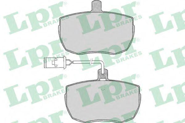 Колодки тормозные дисковые LPR 05P014