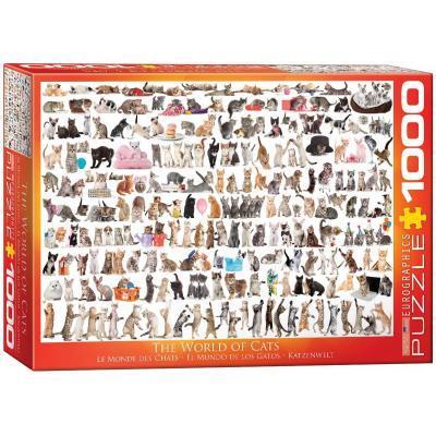 Пазл EuroGraphics Мир кошек, 1000 элементов (6000-0580)