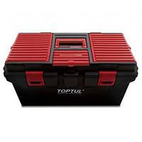 Ящик для инструментов пластиковый 4 секции 556x278x270 TOPTUL TBAE0401