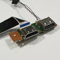 Fujitsu Lifebook E754 Разъем USB, HDMI (cp642205-z1 CP642206X1) бу