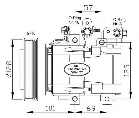 Компрессор кондиционера HCC 9770138171