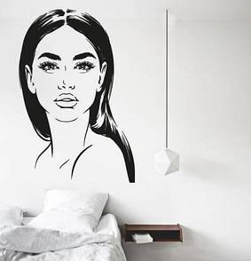Наклейка на стену Современная девушка (прическа, наклейка в салон красоты)