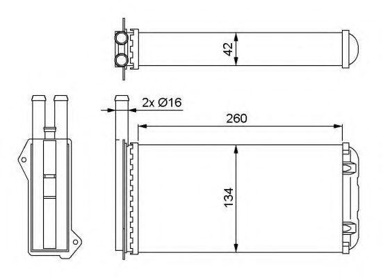 Радиатор отопителя Magneti Marelli 350218209003