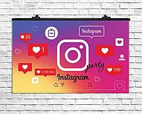 "Плакат для праздника ""Инстаграм Пати"" Instagram Party, 75*120 см"