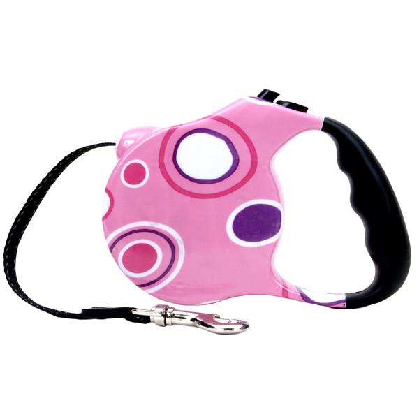 Fashion Walker рулетка-поводок для собак, розовая, 3 м