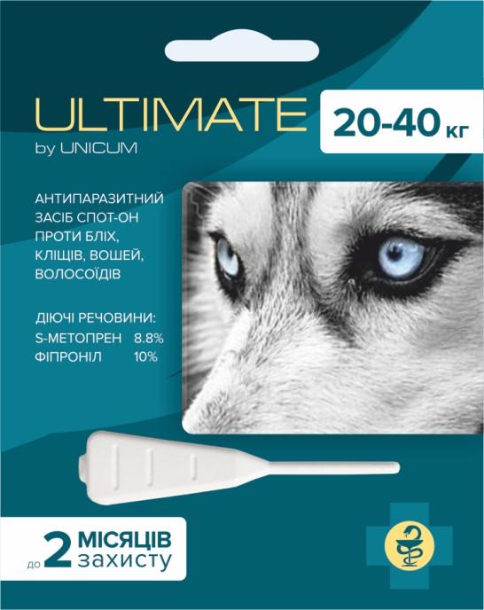 Ultimate (Ультимейт) капли от блох, клещей, вшей и власоедов для собак весом 20-40 кг