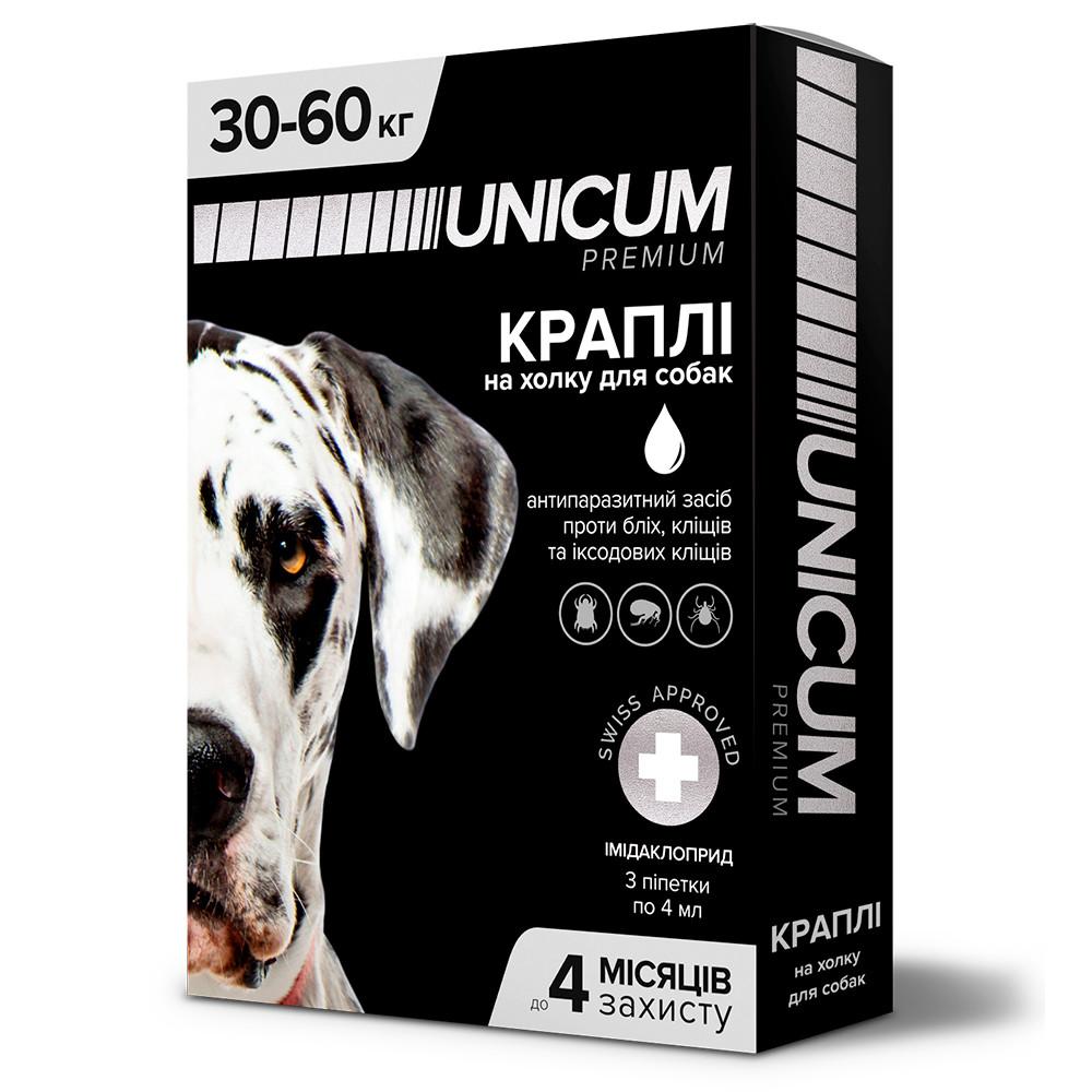 Капли UNICUM premium от блох и клещей для собак весом 30-60 кг