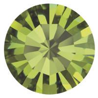 Пришивные стразы в цапах Preciosa (Чехия) ss47 Olivine/золото