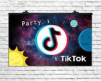 """Плакат для праздника """"ТикТок"""" TikTok Party, 75*120 см"""