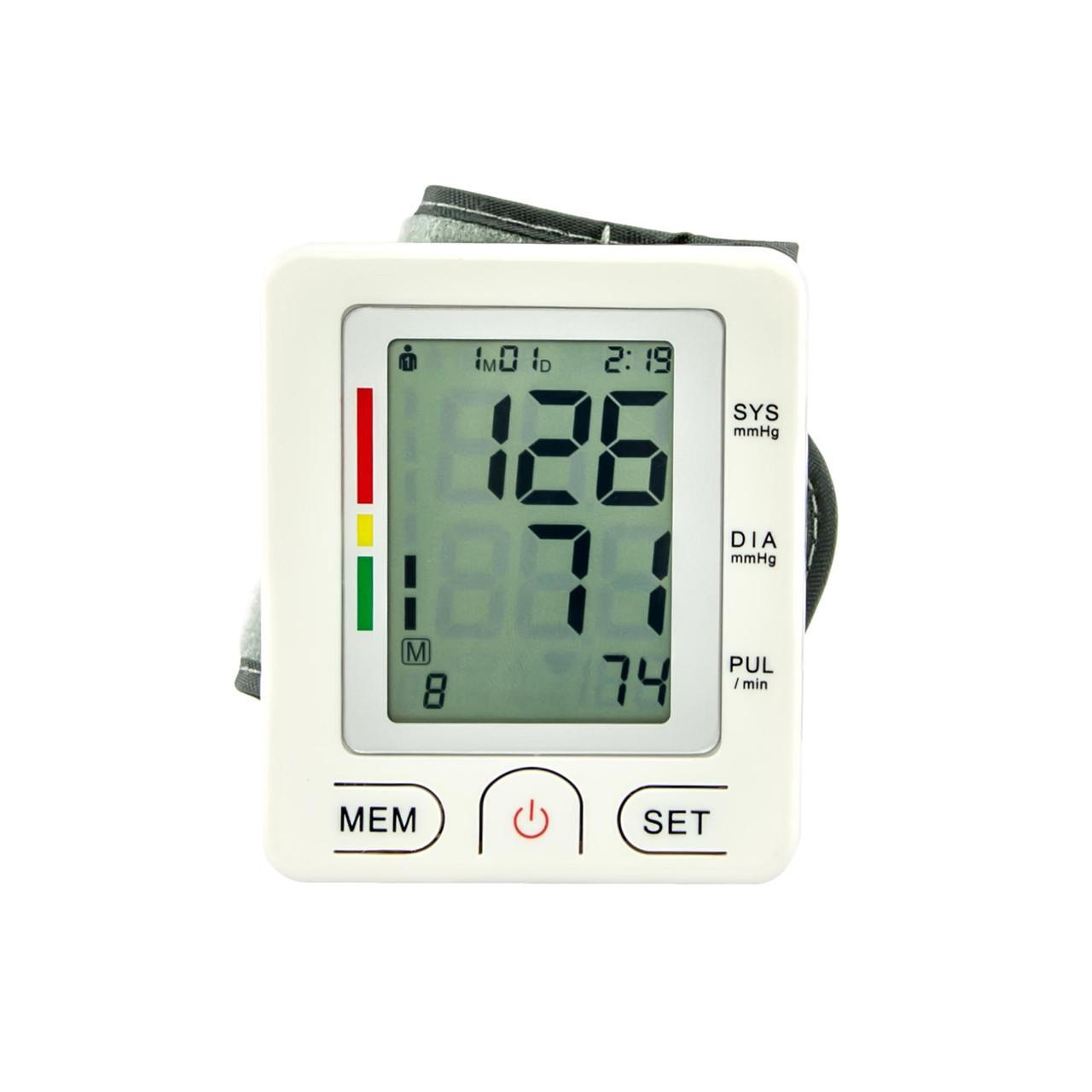 Электронный тонометр UKC Wrist Style на запястье Белый (46-891715235)