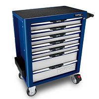 Тележка для инструментов на колесах TOPTUL (Pro-Plus) 7 секций (синяя) TCAL0704