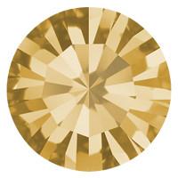 Пришивные стразы в цапах Preciosa (Чехия) ss20 Light Colorado Topaz/золото