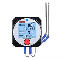 Термометр цифровой для барбекю 2-х канальный Bluetooth, -40-300°C WINTACT WT308A