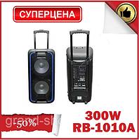 Колонка акумуляторная с микрофоном Rainberg RB-1010A 300W (USB/FM/Bluetooth) Активная акустика
