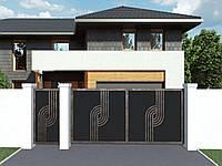 Современные кованые ворота
