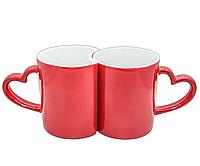 Чашка хамелеон Love парная (красный)
