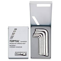 Набор ключей SPLINE Г-образных TOPTUL М5-М12 GAAD0501