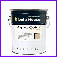 """Aqua Color """"UV-protect"""", фарба для дерева, сонцезахисна, акрилова лазур, антисептик, краска для дерева, 0.8 л"""