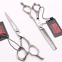Парикмахерские ножницы kasho размер 5/5 винт подшипник цвет зеркальный кварц