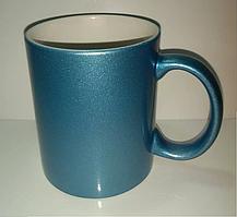 Чашка для сублимации перламутровая (голубой)