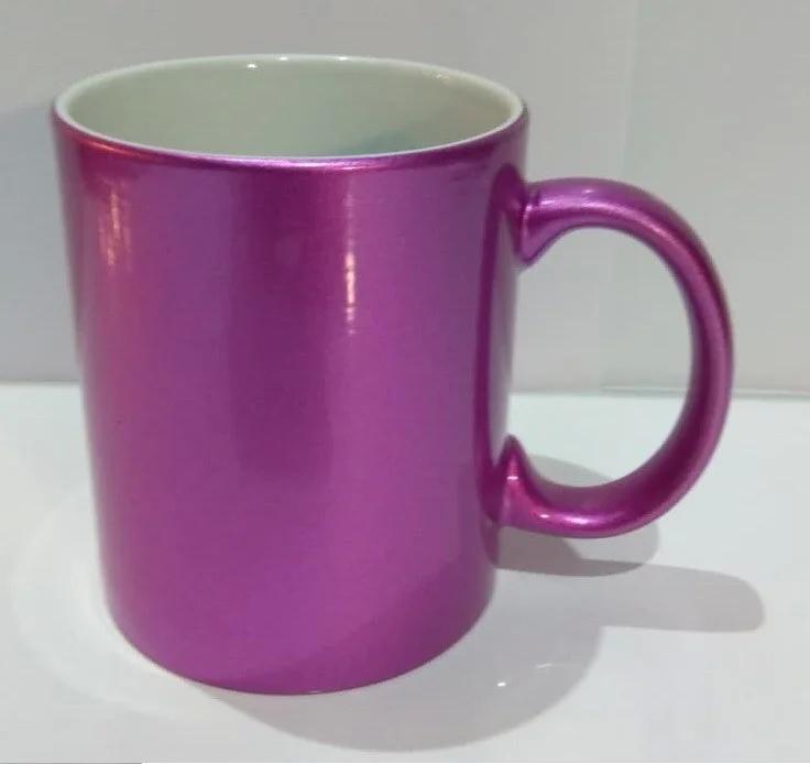 Чашка для сублимации перламутровая (розовый)