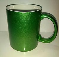 Чашка для сублимации перламутровая (зелёный)