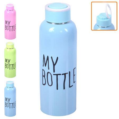"Бутылка-поилка спортивная металлическая ""My bottle"" 500 мл, J00195"