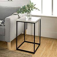 Приставной журнальный, кофейный столик GoodsMetall в стиле Лофт 600х400х400 ЖС132