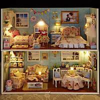 """""""Вернисаж. 4 комнаты. """" 3D пазл, модель домика ручной сборки, волшебная детализация"""