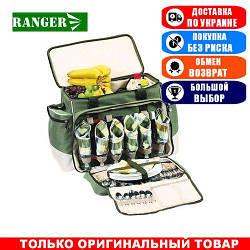 Набор для пикника Ranger НВ6-520 Rhamper Lux; 6-е персон; 35х50х38. Туристическая посуда Ренжер RA 9902.