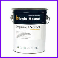 Organic Protect Oil. Антисептик для дерева, просочення для дерева, на лляній олії, пропитка для дерева, 1 л 10