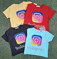 Стильная футболка на девочку 8-14 лет