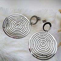 Великі сережки «Лабіринт», фото 1