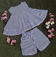 Стильный комплект (шорты+топ) на девочку на рост 116-134