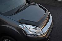 Peugeot Partner Tepee 2008-2020 Дефлектор капота EuroCap длинная