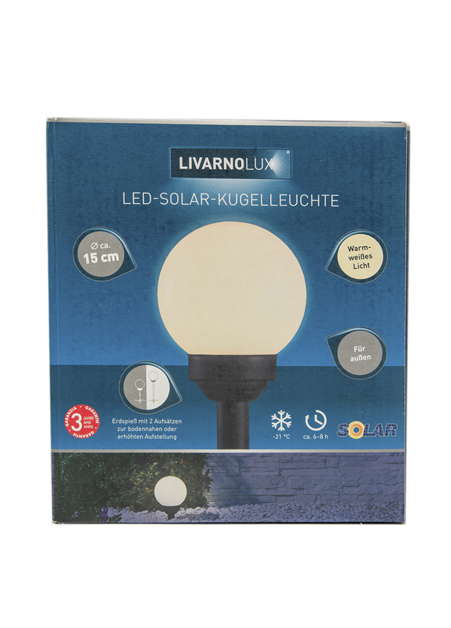 Ліхтар LED Livarno Lux 15см Білий, Чорний