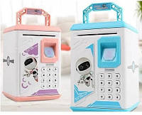 Электронная Копилка сейф с отпечатком пальца и кодовым замком «BODYGUARD» + купюроприемник