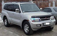 Защита передних фар, прозрачная. (Airplex) - Pajero - Mitsubishi - 2000 HG477