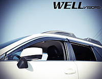 Дефлектори вікон з хромованим металічним молдингом, к-т 4 шт, (Wellvisors) - Outback - Subaru - 2015 3847SU010