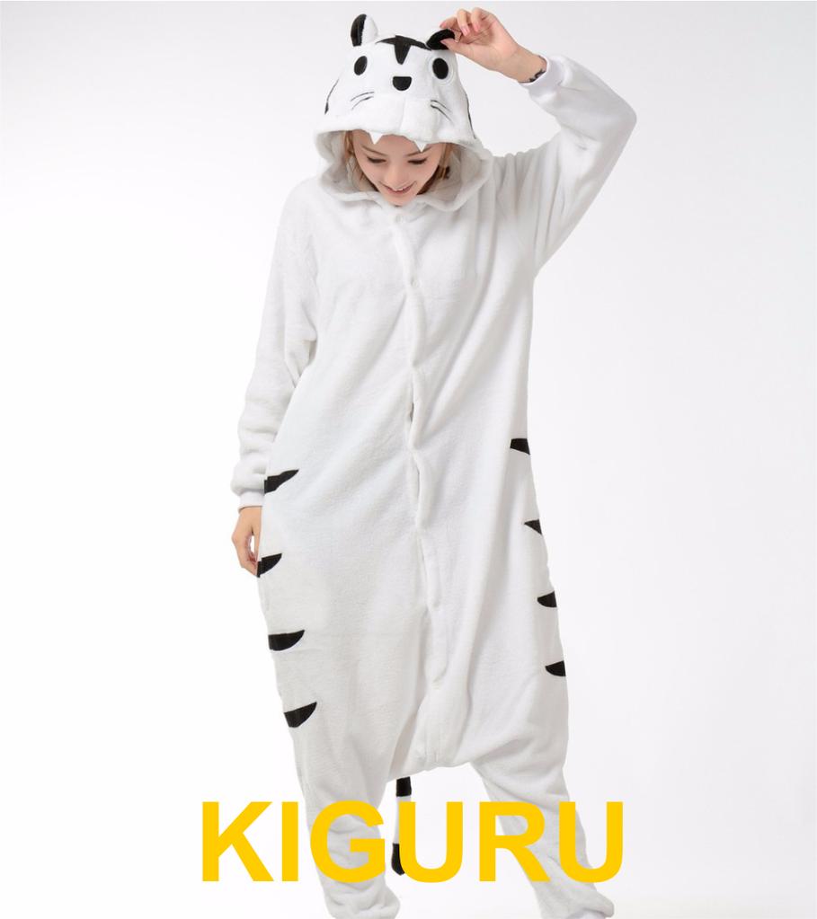 Кигуруми белый тигр пижама