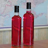 Бутылка стеклянная штоф Овал с крышкой гуала