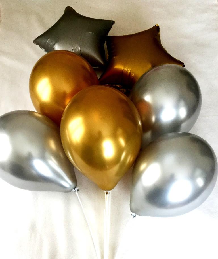 Композиция из 7 шаров хромовая