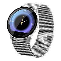 Умные часы фитнес браслет Lemfo K9 Metal с измерением сердечного ритма и давления (Серебристый), фото 1