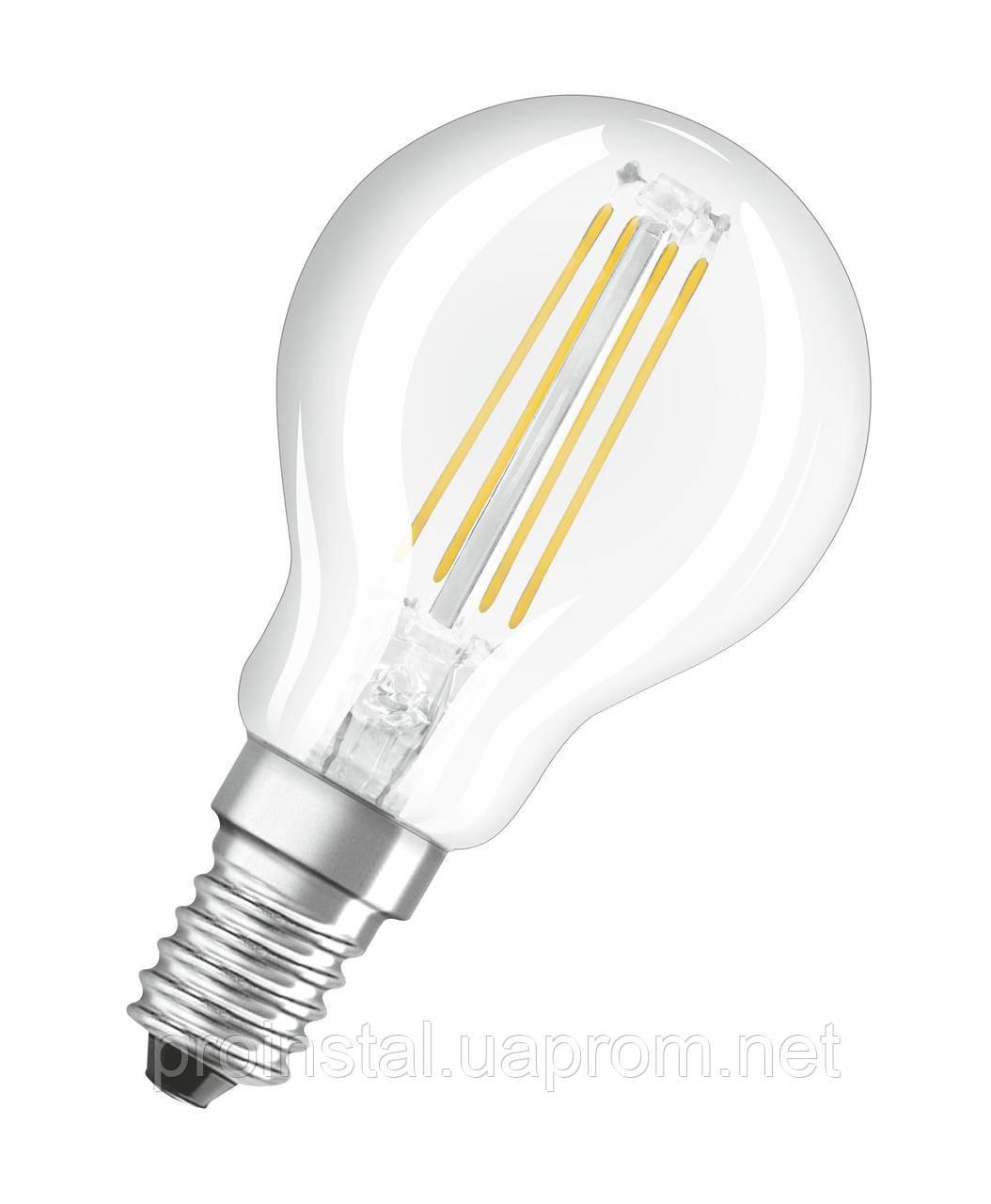 Лампа светодиодная OSRAM LED Value FILAMENT P40 4W (470Lm) 2700K E14