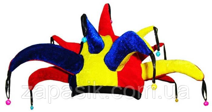 Карнавальная Шляпа Головной Убор Колпак Шута Скоморох для Вечеринки