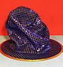 Карнавальная Шляпа Головной Убор Цилиндр Клоуна с Пайетками для Вечеринки, фото 2