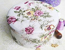 Декоративна Шкатулка для Прикрас Весняні Квіти Пудрениця в Асортименті в Упаковці 10 шт