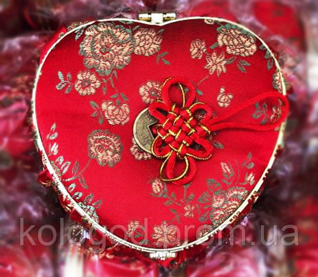 Декоративная Шкатулка Коробочка для Украшений Сердце в Упаковке 5 шт