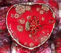 Декоративная Шкатулка Коробочка для Украшений Сердце в Упаковке 5 шт, фото 1
